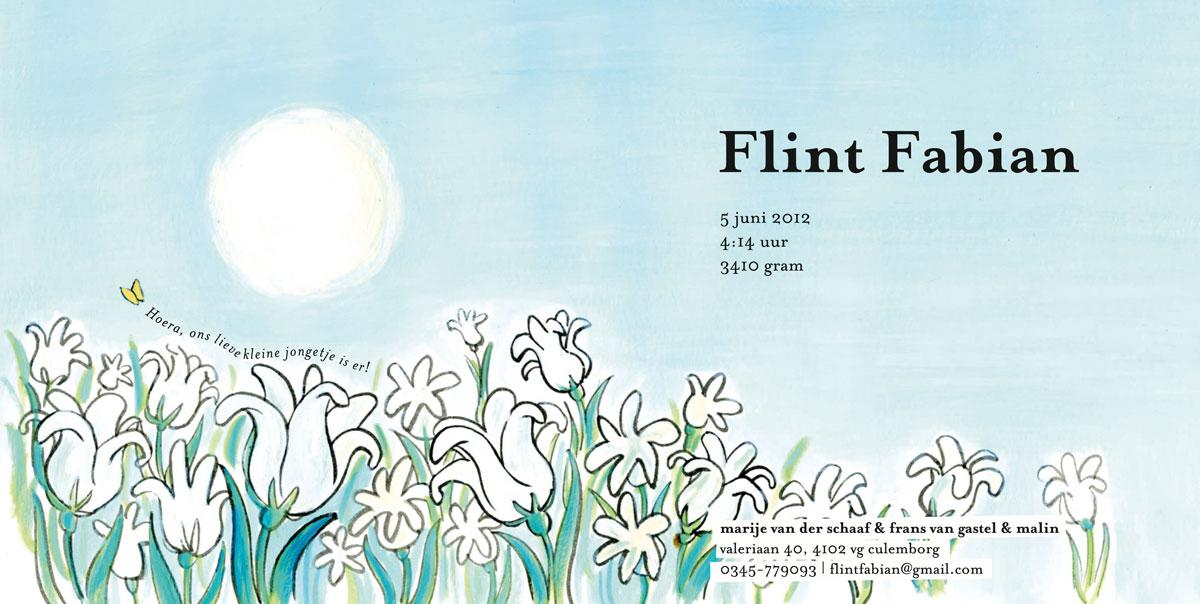 geboortekaartje Flint Fabian